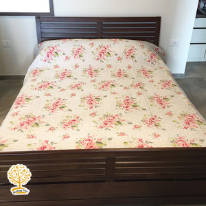 Floral Pattern Colorful - 1 Piece Reversible Quilt