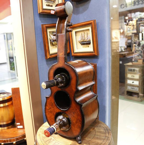 Buff Violin Wine Rack