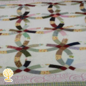 Wedding Ring Pattern Multicolor - 1 Piece Reversible Quilt