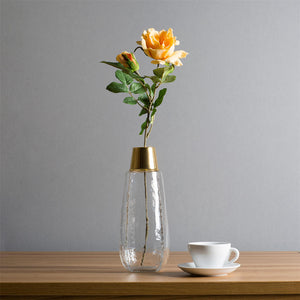 Long Casamotion Hand Blown Transparent Glass Vase