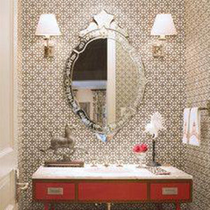 Oval Venetian Mirror for Bathroom