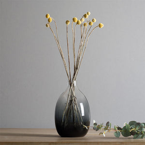 Long Contemporary Style Casamotion Grey Centerpiece Glass Vase