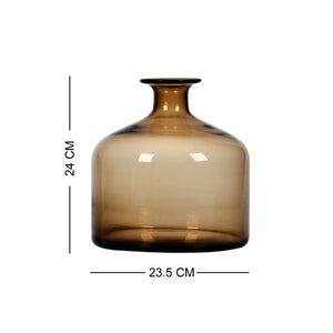 Casamotion High Grade Elegance Light Brown Home Goods Decorative Vase