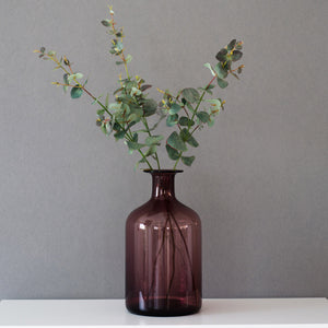 Rustic Purple Flower Arrangement Casamotion Centerpiece Home Decor Vase