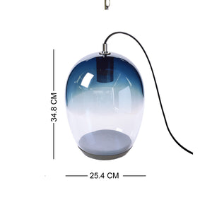 European Casamotion Modern Grey Blue Table Lamp