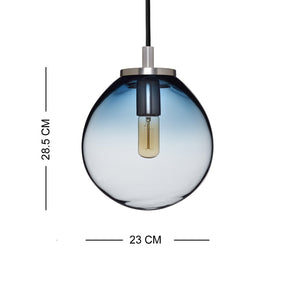 Decorative Hanging Casamotion Glass Small Ball Kitchen Pendant Light-Blue