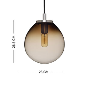 Decorative Hanging Casamotion Glass Small Ball Kitchen Pendant Light-Brown