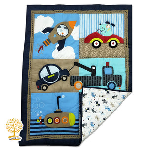 Cartoon Theme - 100% Cotton Baby Quilt / Babysheet