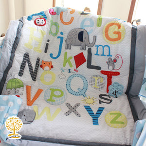 Sports Theme - 100% Cotton Multicolor Super Soft Baby Quilt / Babysheet