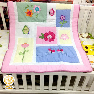 Garden Theme - 100% Cotton Super Soft Baby Quilt / Babysheet