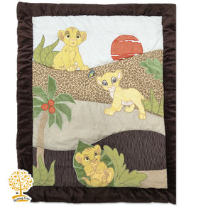 Jungle Theme - 100% Cotton Super Soft Baby Quilt / Babysheet