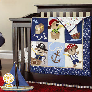 Cartoon Theme - 100% Cotton Blue Baby Quilt / Babysheet & Pillowcase