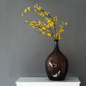 Rustic Brown Glass Vase For Flower Decoration