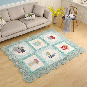 Green Kids Room Rug