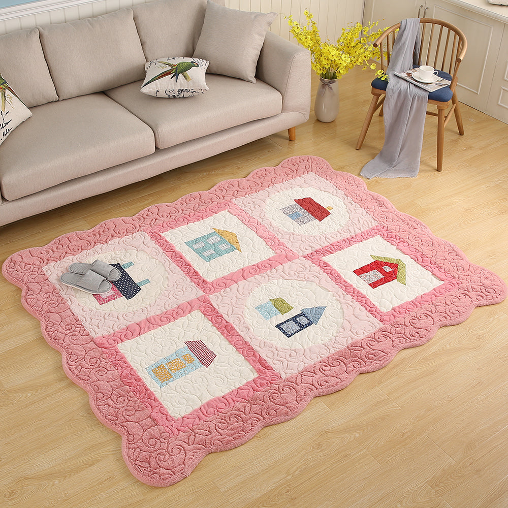 Exclusive Collection Of Beautiful Softly Textured Pink Kids Room Rug   All  Home Living LLP