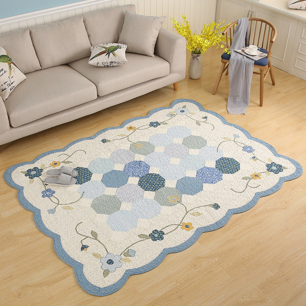 Contemporary Designer Rugs - Pastel Blue Indoor Designer Rug - All ...
