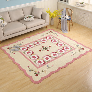 Pink and Off-White Combination Designer Rug