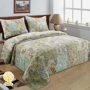 Quilted Patchwork Bedspread/ Blanket & Pillowcases