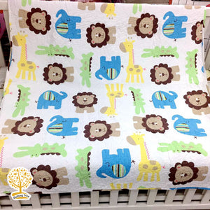 Animal Theme Quilted Bedspread/ Blanket For Kids