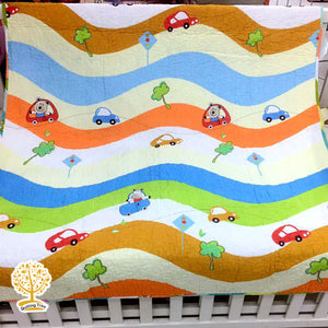 Travel Theme Quilted Bedspread/ Blanket For Kids