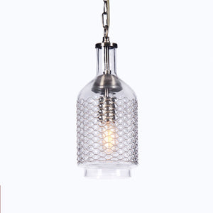 Casamotion Small Glass Copper Vintage Pendant Light For Home Decoration