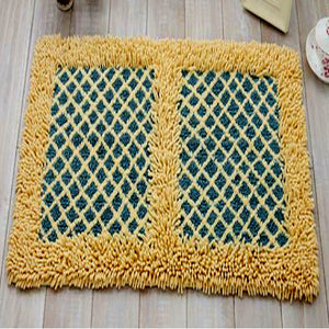 Chenille Yellow and Blue Mat