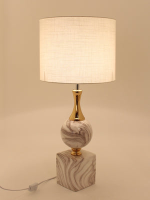 Ceramic White Marble Art Table Lamp