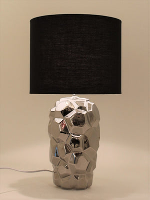 Abstract Silver Table Lamp
