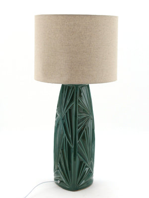 Emerald Green Antique Ceramic Table Lamp