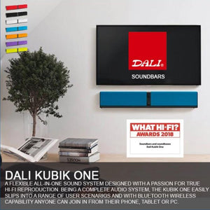 DALI KUBIK ONE Audiophile All-in-one Stereo Sound System Soundbar - Black
