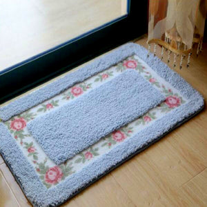 Flower Blue Color Welcome Doormat