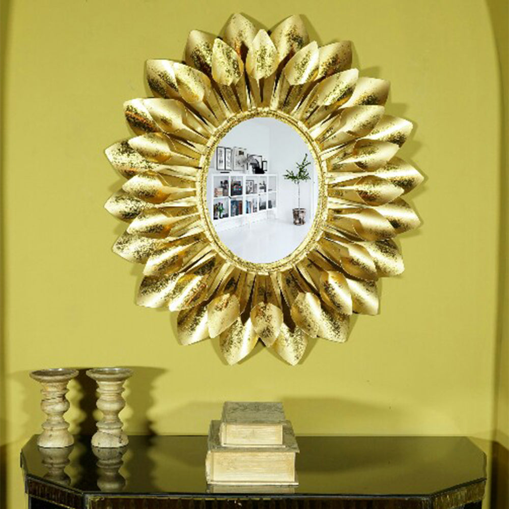 Elegantly Styled Contemporary Gold Leaf Mirror For Home Decor - All ...