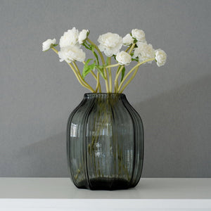 Short Grey Glass Vase (Hot Sell for Decoration)
