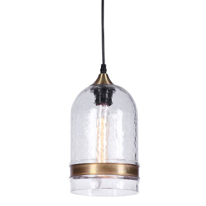 Hot Selling Casamotion Clear Round Roof Blown Glass Pendant Lamps with Brass Ring for Home Decor