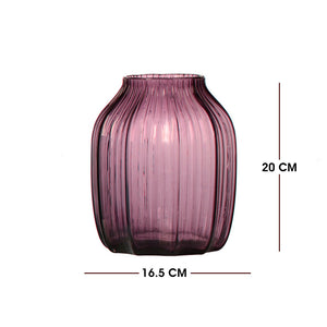 Short Violet Glass Vase (Hot Sell for Decoration)