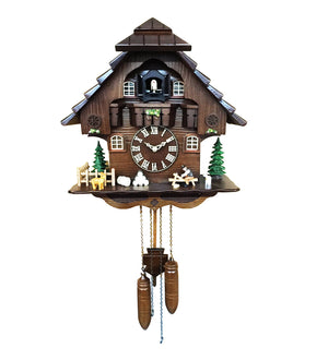 Artistic Cuckoo Clock with Wood Cutter Animated Figures