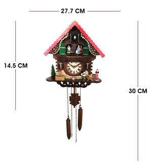 Classic Cuckoo Clock with  Animated Figures