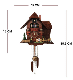 Animated Figure Exquisite  Cuckoo Clock