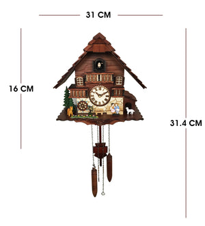 Chic Swiss Home with Wheel Cuckoo Clock