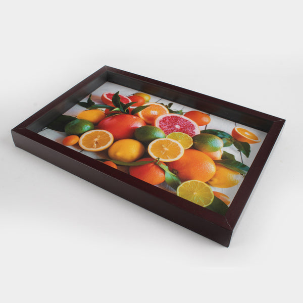 Large Brown Frame Serving Tray - All Home Living LLP
