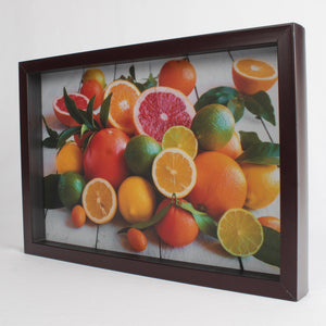 Large Brown Frame Serving Tray