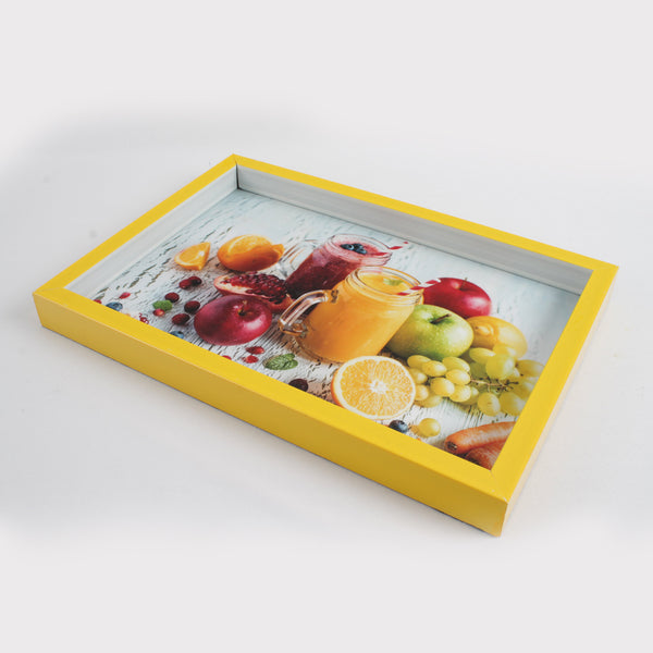 Large Yellow Frame Serving Tray - All Home Living LLP