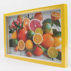Large Yellow Serving Tray