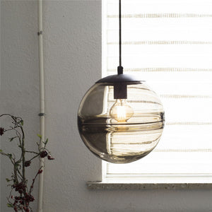 New Collection Casamotion 100% Handmade Art Globe Brown Glass Pendant Light