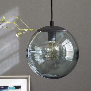 New Collection Casamotion 100% Handmade Art Globe Blue Glass Pendant Light