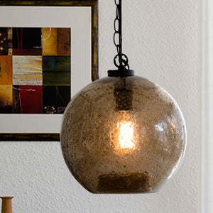 New Collection Casamotion Small Brown Sandy Art Decorative Glass Pendant Light