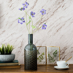 Grey Glass Vase (New Brass Collection for Home Decoration)