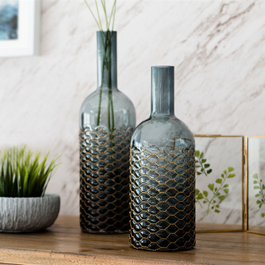Tall glass vases new collection casamotion grey brass vase all home tall grey glass vase new brass collection for home decoration tall grey glass vase new brass collection for home decoration reviewsmspy