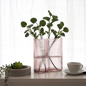 Pink Handblown Glass Vase (New Product for Flower)