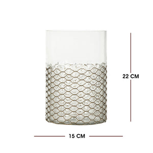 Transparent Cylinder Glass Vase (New Collection for Candle Holders)